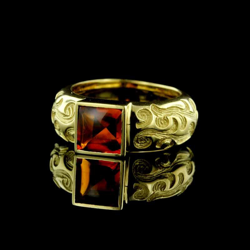 Rodney Raynor 18K Yellow Gold and Citrine Ring