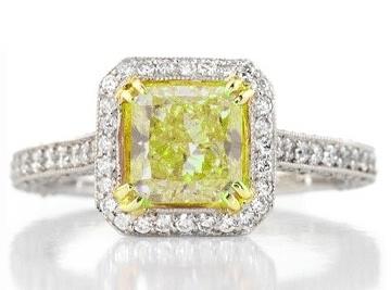 Fancy Yellow Diamond Ring