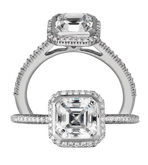 18K White Gold Bella Vita Bezel Set Engagement Ring by Ritani