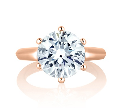 Classic 6 Prong Solitaire Engagement Ring by A. Jaffe