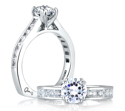 Princess Cut Channel Set Engagement Rings 6