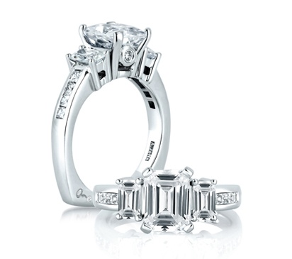 Princess Cut Channel Set Engagement Rings 10