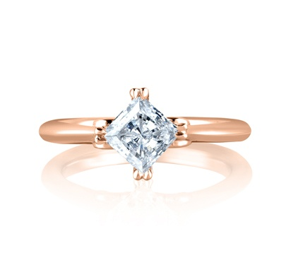Art Designed Princess Engagement Ring by A. Jaffe