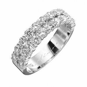 Mémoire Paragon Half Round Diamond Bands