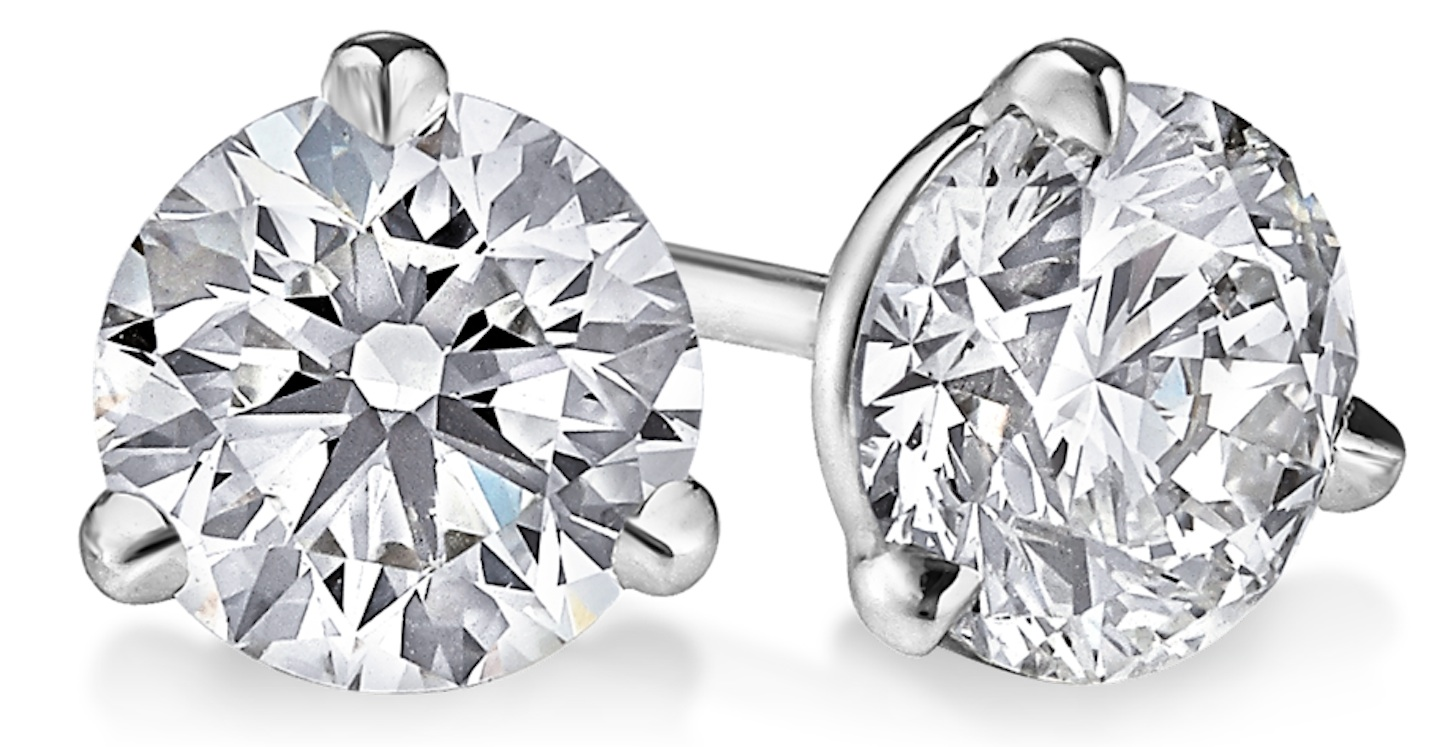 Graduation Gifts For Her - Classic and Elegant Diamond Earrings