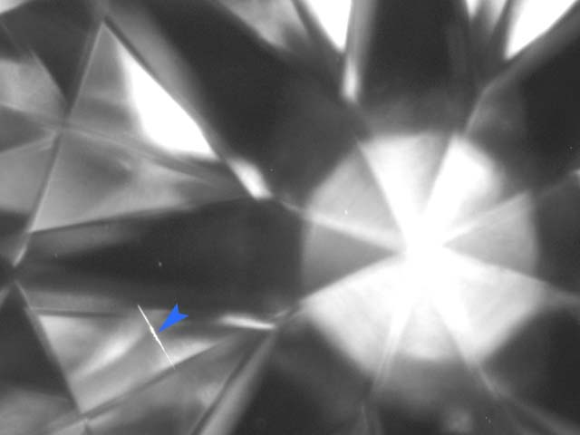 Surface blemish eye clean diamond