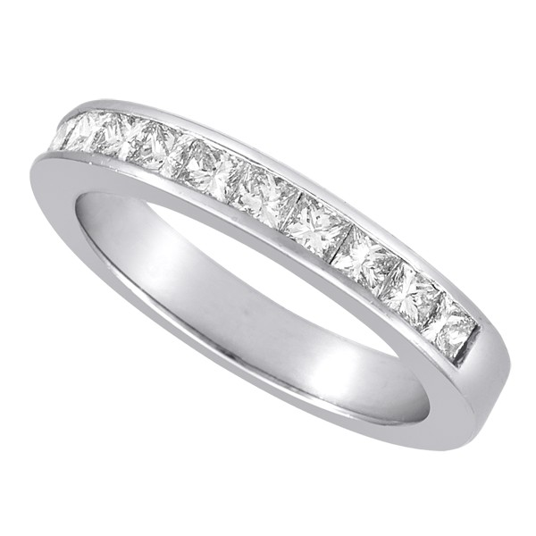 Princess Cut Channel Set Engagement Rings 3