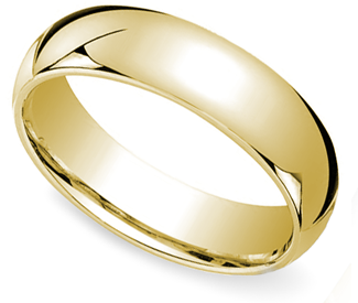 yellow gold mens wedding band